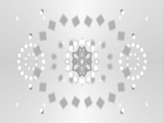 White Kaleidoscope| Video Loop