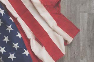 Wrinkled American Flag