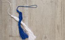 Blue and White Tassel