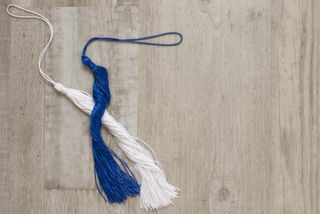 Blue and White Tassel