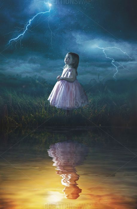 Little girl in rain (67944)