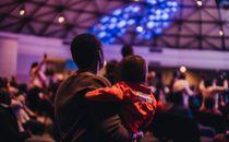 Mom and son at church