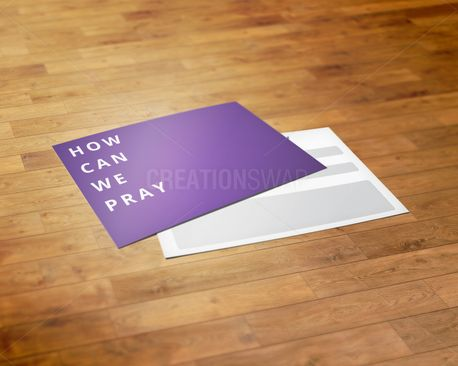 How can we pray card (68675)