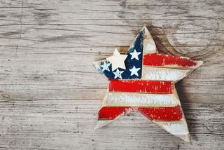 Wooden Patriotic Star