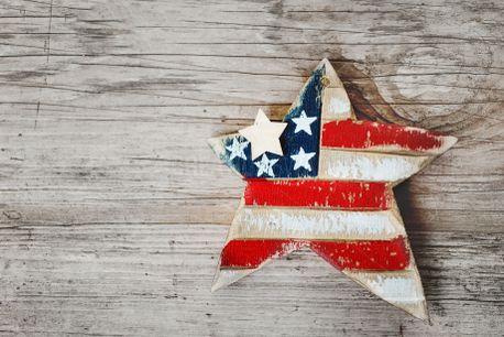 Wooden Patriotic Star (68877)