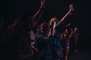 People worshiping