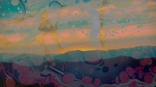 Mountain Sunset Abstract