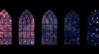 Church Windows And Stars Loop
