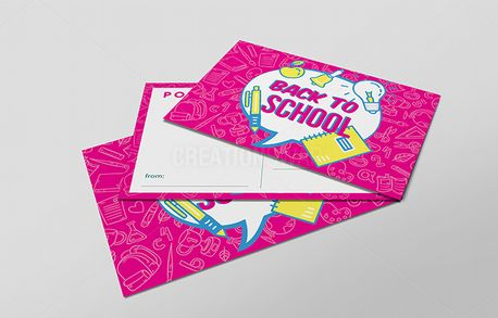 Pink 'Back to School' Pushcard (70047)