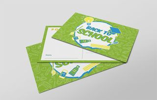 Green 'Back to School' Card