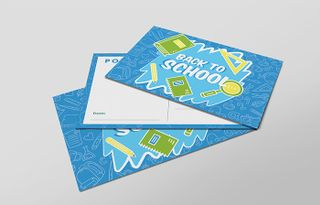 Blue 'Back to School' Card