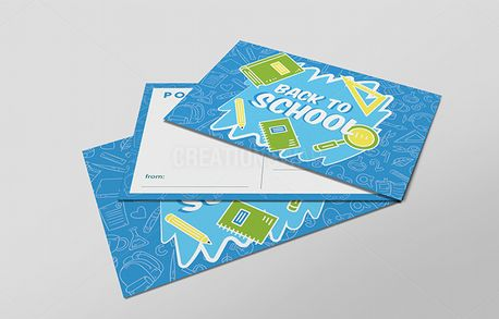Blue 'Back to School' Card (70049)