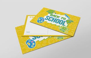 Yellow 'Back to School' Card