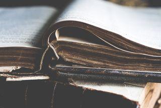 Worn Open Bible
