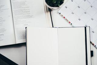 Notebook, Bible & Calendar
