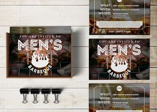 Men's Barbecue Invitation