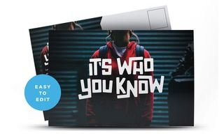 It's Who You Know Postcard
