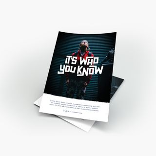 It's Who You Know Flyer