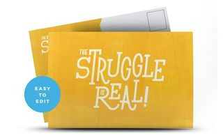 The Struggle Is Real Postcard