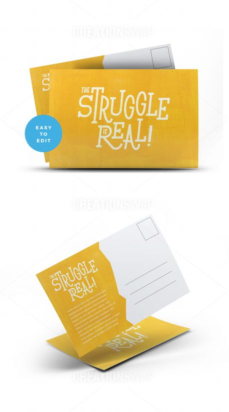 The Struggle Is Real Postcard (70985)