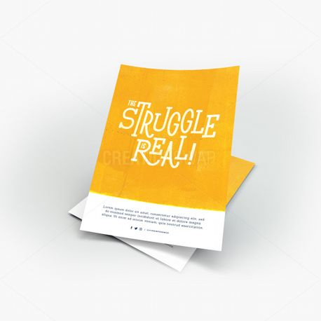 The Struggle Is Real Flyer (70986)