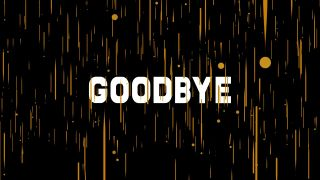 3D Goodbye Graphics Background