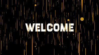 3D Welcome Graphics Background