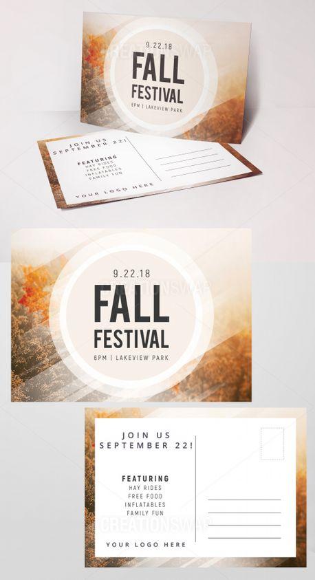 Fall Festival Invite Postcards (71348)