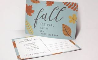Fall Festival Invite Postcards
