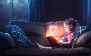 Little girl and Bible