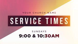 Service Times Slide