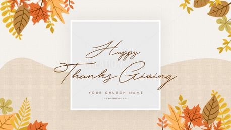 Happy Thanks Giving Widescreen (72699)