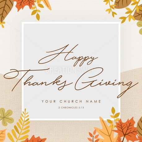Happy Thanks Giving Social (72700)