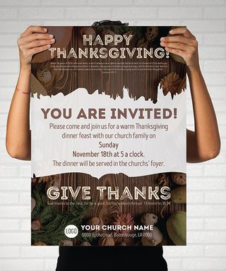 Thanksgiving matching poster