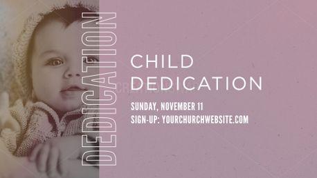 Child Dedication 18 Slide 73366