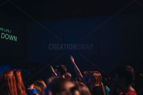 Hands raised in worship (73376)