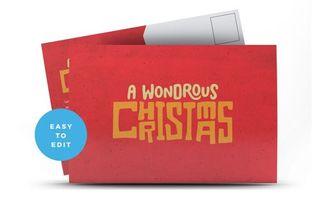 A Wondrous Christmas Postcard