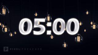 Edison Bulbs 5 Min Countdown