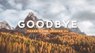 Fall Landscape Goodbye