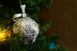 Silver tone Christmas Ornament