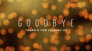 Bokeh Glitter Goodbye