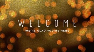 Bokeh Glitter Welcome