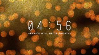 Bokeh Glitter Countdown