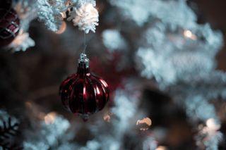Christmas Ornament with bokeh
