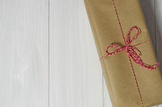 twine bow Christmas gift