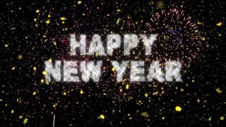 New Year Fireworks & Confetti