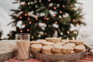 Christmas cookies and tree