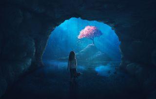 Little girl alone