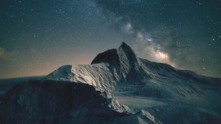Mountains under the milky way
