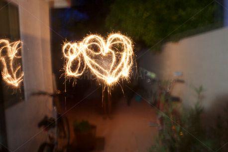 heart sparkler (75649)